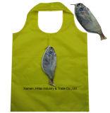 Sac promotionnel d'achats pliables, type animal de poissons, réutilisable, cadeaux