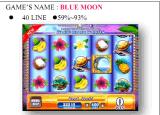 Машина видеоигры машины игры шлица голубой луны