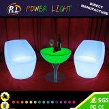 Mesa redonda al aire libre de los muebles LED del resplandor del vector de banquete del LED