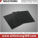 El panel compuesto de aluminio negro para la decoración