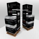 Lavage de corps de carton annonçant le présentoir d'étage pour la promotion de nouveaux produits