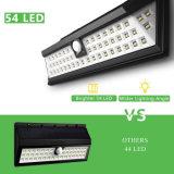 lâmpada de parede impermeável psta solar da segurança do sensor de movimento da luz do jardim 54LED