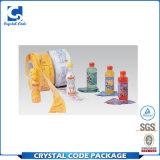 Étiquette matérielle de collant de bouteille d'enveloppe de rétrécissement de PVC de paquet complet