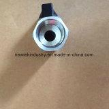 Maniglia nera riducentesi della valvola a sfera dell'acciaio inossidabile 304 mini Mxm