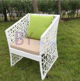 Moderne im Freiengarten-Terrasse-einfachgegliederte Kaffee PET Rattan-Tabelle und Stuhl