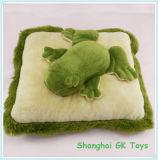 Het groene Decoratieve Hoofdkussen van de Kussens van de Pluche van het Kussen van de Kikker & van de Giraf Dierlijke