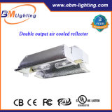 O refletor de refrigeração 600watt HPS/CMH da saída ar gêmeo cresce jogos claros para hidropónico
