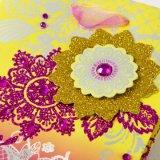 Schitteren de bloem Afgedrukte Zakken van de Gift van de Zakken van het Document van de Gift Bloemen met de Diamant van de Druk en en Popups