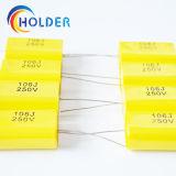 Tipo piano condensatore assiale della pellicola del polipropilene metallizzato 106j/250V Cbb20