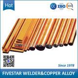 Tubulações de cobre duras do material C17510