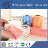 Tissu non-tissé de Spunlace de viscose de 100% pour le tissu de chiffon
