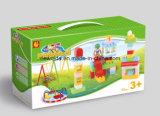 Игрушка малышей строительных блоков конструкции с коробкой окна
