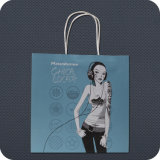 Twist HandleのカスタムPrintedクラフトPaper Shopping Bag
