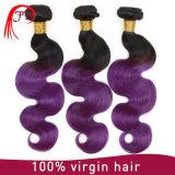 Zwei Farben-preiswertes Haar, das Ombre brasilianische Jungfrau Remy Extension spinnt