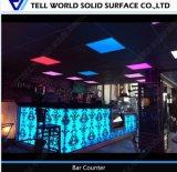 LED 빛을%s 가진 나이트 클럽을%s 현대 새겨진 패턴 바 카운터