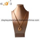 Indicador de couro da jóia da colar com base da caixa (XK-003)