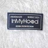 La qualité conçoivent l'étiquette principale de tissu d'habillement de vêtement, étiquette tissée