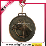 Médaille personnalisée en métal de modèle avec de l'argent plaqué
