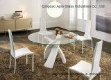 Cercle/glace Tempered de table taillante ronde