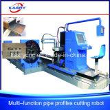 Machine de découpage supplémentaire inférieure de commande numérique par ordinateur de plasma pour les tubes inoxidables de Hellow de pipe