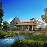 Rappresentazione di piano di sviluppo 3D del complesso industriale della grande scala