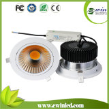 Recorte 160mm 30W Regulable LED Downlight Párrafo Regulable LED Downlight