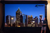 移動式広告のための携帯用適用範囲が広いLEDのビデオカーテンの表示