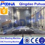 高品質の自動研摩のリサイクリング・システム(Q26)が付いている大きい鉄骨構造のサンドブラスト部屋