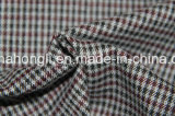 Tessuto del plaid di T/R tinto filato, 65%Polyester 32%Rayon 3%Spandex, 255GSM