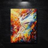Figura moderna dipinta a mano pittura a olio del Hoofer dell'estratto della decorazione di arte della parete della lama di gamma di colori su tela di canapa