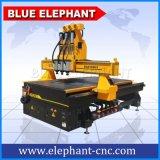 Ele 1325 다중 헤드 CNC 대패 가구 장비, 나무 3개의 스핀들을%s 가진 작동되는 가구 기계