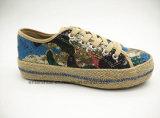 ジュートの足底(ET-FEK160261W)が付いている加硫させたニースの女性の靴