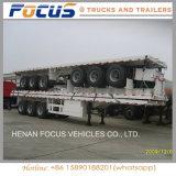Rimorchio lungo pesante del camion della base piana dei veicoli per trasporto di contenitore