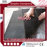 Le mattonelle di gomma 1m antiscorrimento, quadrano le mattonelle di gomma, riciclano le mattonelle di gomma della gomma del campo da giuoco delle mattonelle