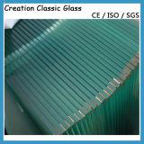 세륨을%s 가진 건물 유리를 위한 3.2mm 밝은 초록색 강화 유리