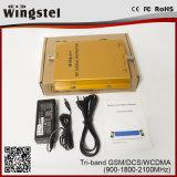 Tri-Band GSM/Dcs/WCDMA 900/1800/2100MHz 2g 3G 4G grosses Signal-Verstärker für Mobile
