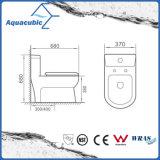 Один туалет шара части двойной полный круглый передний в белизне (ACT7805)