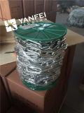 Chaîne galvanisée électrique DIN5685A avec la couleur verte de bobine