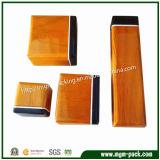Alto contenitore di monili di legno di laccatura lucido
