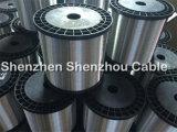 Câble en aluminium plaqué de cuivre de chaufferette de fil du fil plat CCA Ccaa