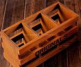 La promozione ha personalizzato il contenitore rettangolare laccato di legno solido per memoria