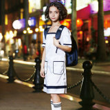 Uniforme di vestito occidentale dalla ragazza del banco del manicotto di Short di stile dell'OEM