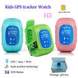 Relógio múltiplo do perseguidor do GPS dos miúdos das línguas com tecla do SOS (H3)