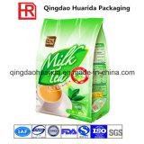 Sacchetto dell'alimento della parte inferiore del quadrato del commestibile per tè con la chiusura lampo
