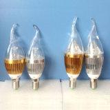 Accesorios de aluminio LED bulbo de la vela / vela de la luz LED