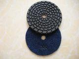 Almofada de polonês seca do diamante para a pedra do granito