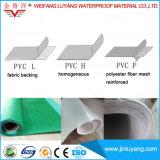 Горячее сбывание одиночно курсирует материальную гибкую однотиповую мембрану PVC делая водостотьким