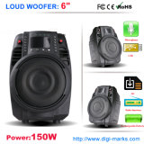 Gute Qualität 15 Zoll Plastiklaufkatze DJ-Lautsprecher-mit Batterie