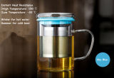 taza de cristal de la oficina del Borosilicate 450ml, taza de la oficina, taza de café