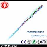 Cable de fibra óptica excelente del funcionamiento que blinda Cat5e en precio bajo